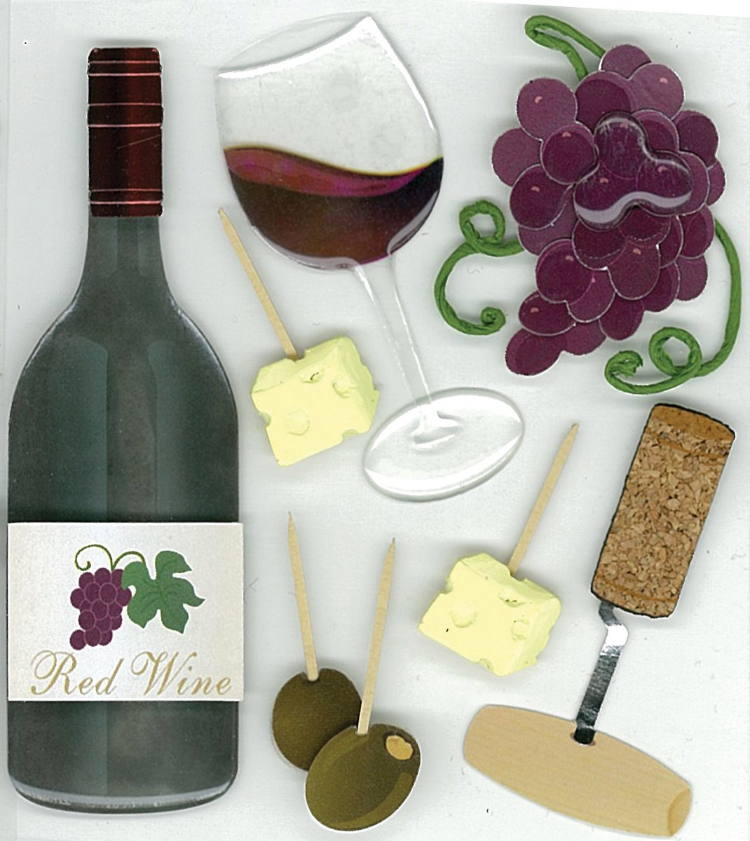 """Jolee/'s Boutique /""""Wine/"""" Dimensional Stickers"""