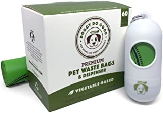 Biodegradable Poop Bags | Dog Waste Bags, Unscented, Vegetable-Based & Eco-Friendly, Premium Thickness & Leak Proof, Easy Detach & Open, Includes Dispenser, Supports Rescues