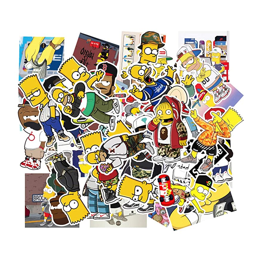 The Simpsons Family Cartoon Waterproof Stickers Car Laptop Helmet Luggage Vintage Skateboard Wall Decor Gift for Kids