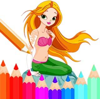 Little Mermaid Coloring Book - Underwater Life