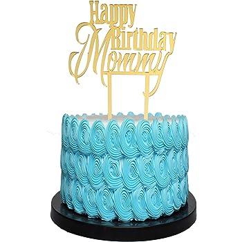 Superb Amazon Com Happy Birthday Mom Cake Topper Arts Crafts Sewing Personalised Birthday Cards Beptaeletsinfo