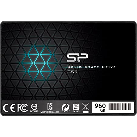 シリコンパワー SSD 960GB TLC採用 SATA3 6Gb/s 2.5インチ 7mm 3年保証 S55シリーズ SP960GBSS3S55S25AC