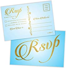 RSVP Postcards (Pack of 50) Gold Foil Stamping with Mailing Side 4