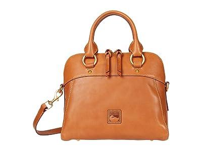 Dooney & Bourke Florentine Cameron Satchel (Natural) Satchel Handbags