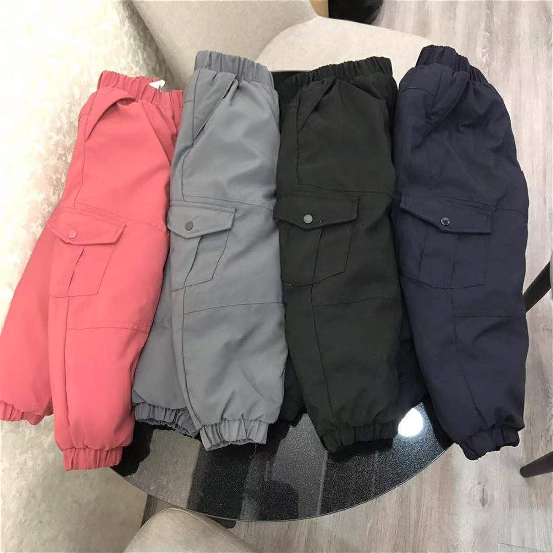 Icegrey /Élastique Coupe-Vent L/éger Pantalon De Neige Chaud Hiver Chaud Enfants Bas Pantalon
