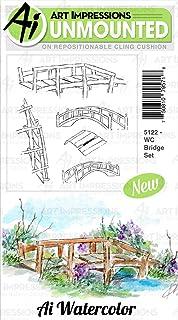 Art Impressions 5122 Watercolor Cling Rubber Stamps-Bridge Set