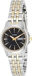 CITIZEN Womens Quartz Watch, Analog Display and Stainless Steel Strap - EQ0608-55E