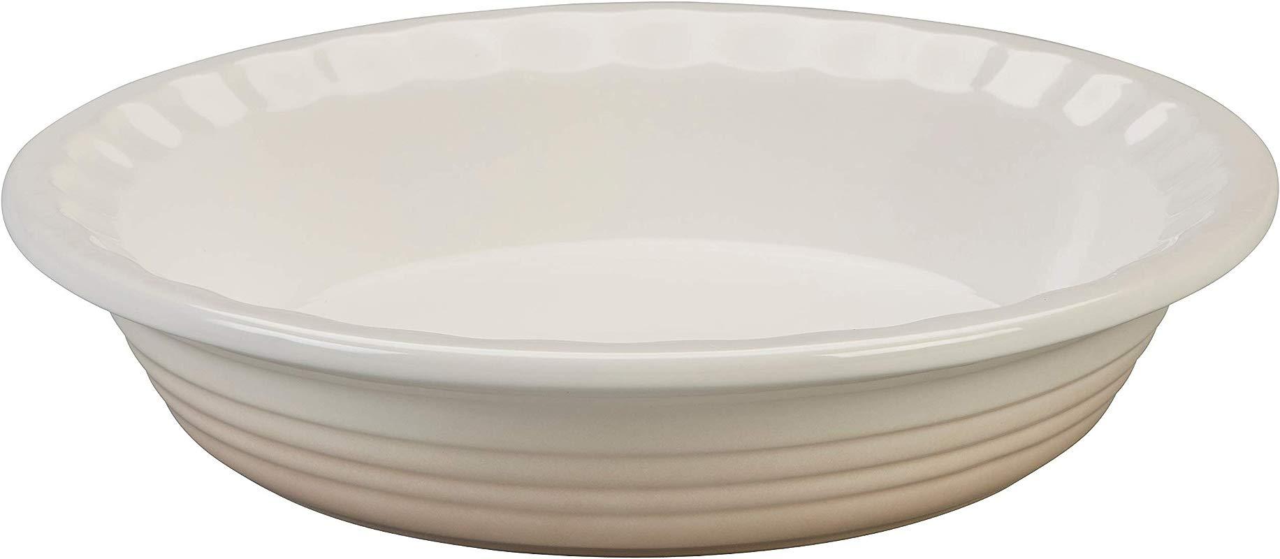 Le Creuset Heritage Meringue Stoneware 9 Inch Pie Pan