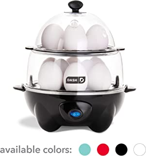 Dash DEC012BK Deluxe Rapid Egg Cooker Electric for for Hard Boiled, Poached, Scrambled,..