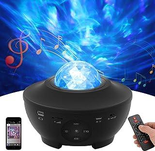 Star Projector Night Light, Galaxy Light Starlight Projector avec Bluetooth Music Speaker, Ocean Wave Starry Nebula Projec...