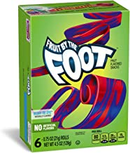 Betty Crocker Fruit Snacks, Fruit by the Foot, Berry Tie-Dye, 6 Rolls, 0.75 oz Each (Pack of 12)