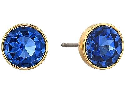 Kate Spade New York Reflecting Pool Mini Round Studs Earrings (Sapphire 1) Earring