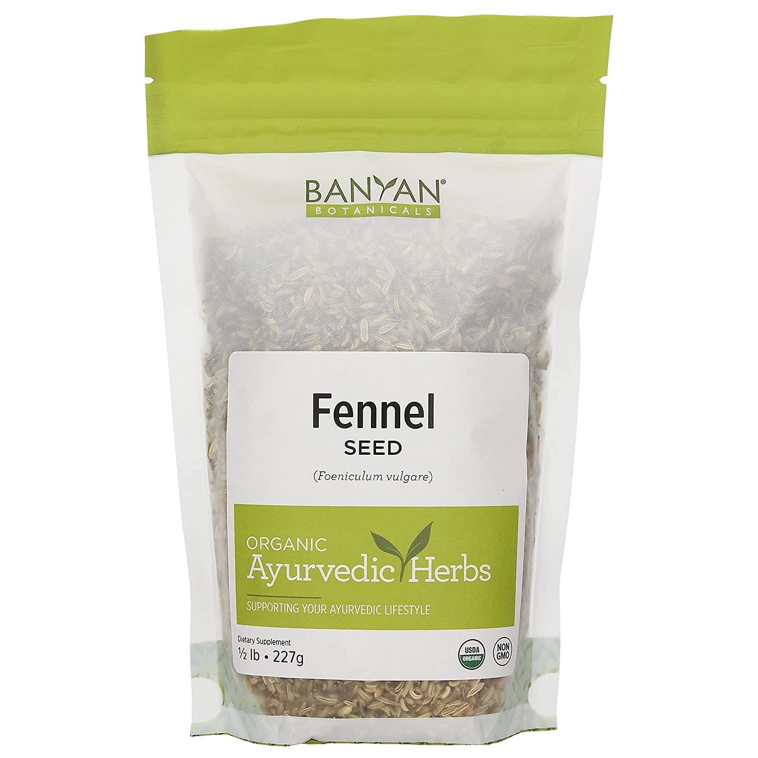 Banyan Botanicals Whole Fennel Seed - USDA Organic, 1/2 lb - Foeniculum vulgare - Spice & Herbal Supplement for Digestive Comfort*