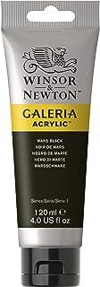 Winsor & Newton 2131386 Galeria akrylfärg, hög pigmentering, ljusäkta, buttrig konsistens, 120 ml rör, marssvart