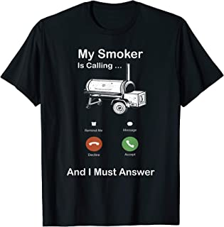 Funny Cell Phone BBQ Smoker Grill Novelty Quote T-Shirt