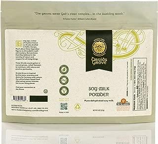 Druids Grove Organic Soy Milk Powder ☮ Vegan ⊘ Non-GMO ❤ Gluten-Free ✡ OU Kosher Certified - 8 oz.
