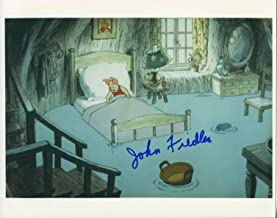 John Fiedler Winnie the Pooh Voice Of Piglet Rare Signed Autograph Photo