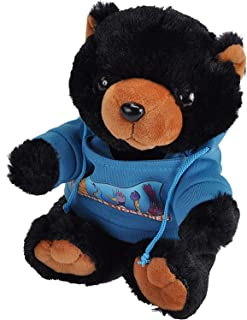 Wild RepublicStronger Together,Bear Black, Hoody,Stuffed Animal,8inches, Gift for Kids,Gift for First Responders,Pl...