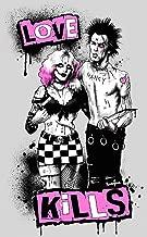Sid and Nancy by Marcus Jones Punk Vicious Sex Pistols Tattoo Canvas Art Print
