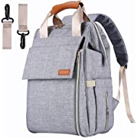 Aisparky Baby Diaper Bag Multi-Function Waterproof Travel Nappy Shoulder Backpack