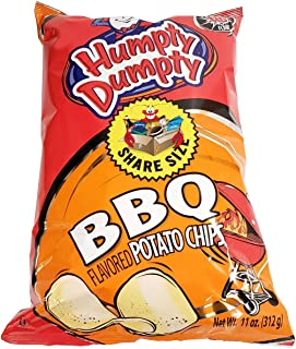 Humpty Dumpty Potato Chips, 11 Ounce, 4 Count, New Larger Family Size Bags (BBQ)
