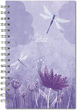 "Dragonfly Designer 2022 Weekly & Monthly Planner 16-Month: September 2021 - December 2022, 6"" x 9"""