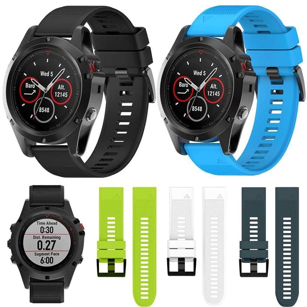 For Garmin fenix 3 HR / fenix 3 GPS Watch Bands Silicagel , Gotd Replacement Accessories Bracelet Band Strap Smart Watch Strap Wristband (Black)
