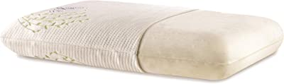"""The White Willow Memory Foam Orthopedic Bed Pillow for Sleeping & Neck Pain Relief Suitable for Back Sleeper, Side Sleeper & Stomach Sleeper with Pillow Cover 22"""" L x 15"""" W x 4"""" H ,Multi"""