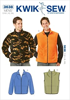 Kwik Sew K3638 Jacket and Vest Sewing Pattern, Size S-M-L-XL-XXL
