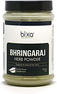Ideal Hair Tonic Bhringraj Powder (Eclipta Alba) – 200g (7 Oz) | Pure & Natural Supplement, externally for strengthening Hair follicles & Hair Growth |
