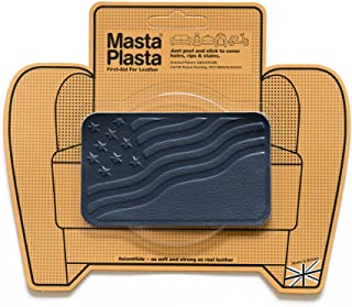 MastaPlasta Navy Blue Self-Adhesive Leather Repair Patches. Choose Size/Design. First-Aid for Sofas, Car Seats, Handbags, Jackets etc.