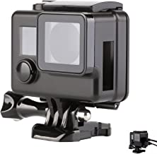SHOOT Side Open Case for GoPro Hero 3+/4 Protective Skeleton Housing Shell Cover Frame Wire Connectable for Go Pro Hero 3+/4 Camera Accessories(Black)