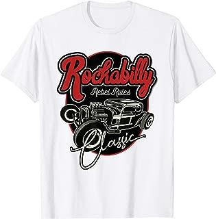 Rockabilly Clothing Retro 50s 60s Party Theme Hotrod TShirt