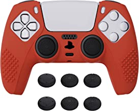 eXtremeRate Capa de silicone antiderrapante PlayVital Passion Red 3D Studded Edition para controle Playstation 5, capa de ...