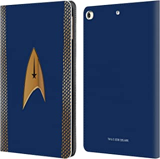 Official Star Trek Discovery Command Uniforms Leather Book Wallet Case Cover Compatible for iPad 9.7 2017 / iPad 9.7 2018