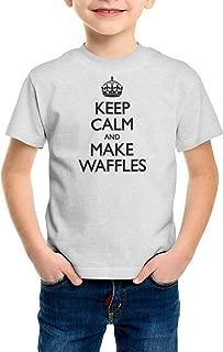 shirtloco Boys Keep Calm and Make Waffles Youth T-Shirt
