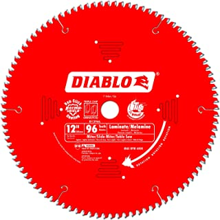 Freud D1296L Diablo Melamine, Laminate Flooring, and Wood Saw Blade 12-Inch Diameter 96t TCG 1-Inch Arbor
