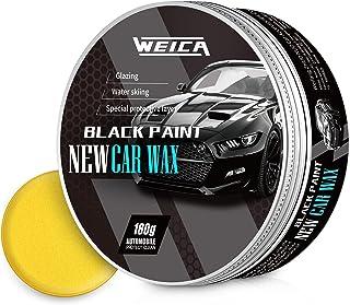 موم اتومبیل مشکی ERICA جامد برای سیاه و سفید ماشین مخصوص پاک کننده واکس مخصوص اتومبیل سیاه 180 گرم با موم اسفنجی رایگان و حوله سیاه