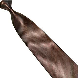 marron ray/é brun ocre Large cravate 10cm