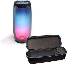 JBL Pulse 4 Wireless Bluetooth IPX7 Waterproof Speaker Bundle with divvi! Portable Hardshell Travel Case - Black