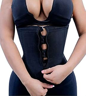 Women Latex Underbust Waist Training Corsets/Cincher Zip&Hook Hourglass Body Shaper