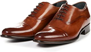 Men's Cagney Cap-Toe Oxford Shoes, Italian Calfskin Leather