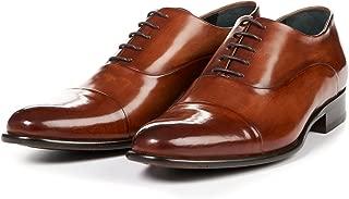 Men's Cagney Cap-Toe Oxford Shoes, Italian Calfskin Leather