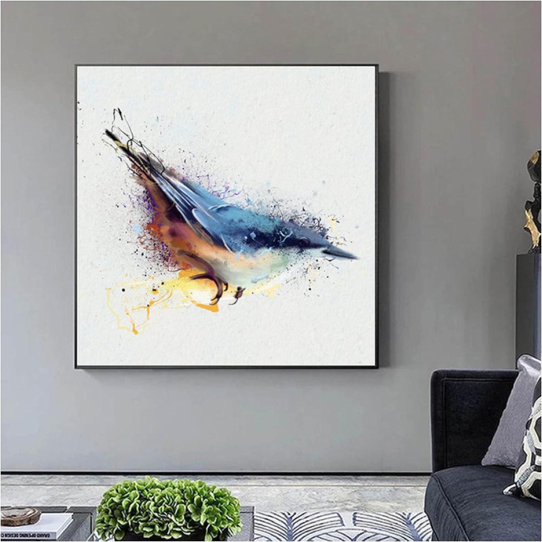 Print On Canvas Colorful Max 87% OFF Abstract Pa Wall Hummingbird Art Bargain