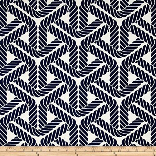 Waverly Sun N Shade Topsail Trellis Navy Fabric by the Yard