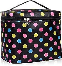 HQdeal Large Capacity Travel Makeup Organiser Cosmetic Storage Toiletry Bag Waterproof for Women- Black