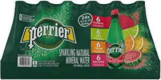 Perrier Sparkling Natural Mineral Water, (Assorted Flavors, 16.9 Fl. Oz (Pack of 24))