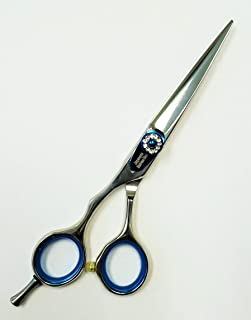 MITSUKU COBALT Hair Styling Professional Razor Edge Shears BT 789 Series. (5.5 inches(Left Handed), Silver Finish)