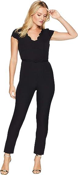 Petite Stretch Crepe Jumpsuit