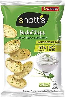 Grefusa - Snatt's | NatuChips Crema Fresca y Cebollino - 85